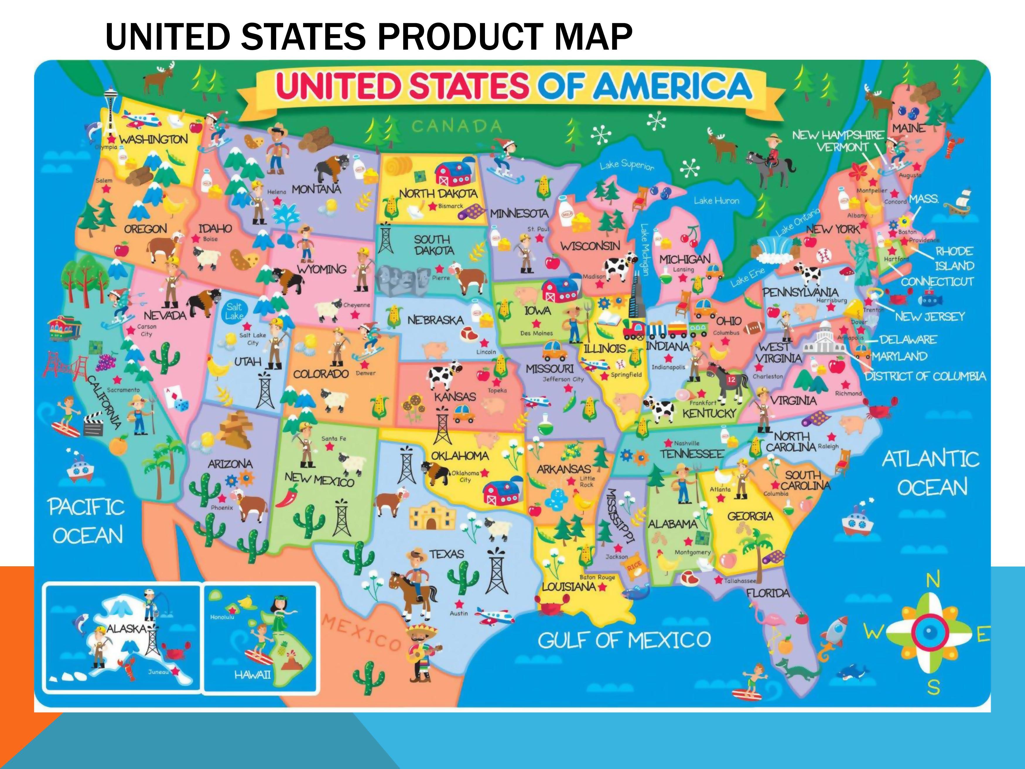 Duża Mapa Usa Stany Zjednoczone Ameryki Mapa Duże Ameryka