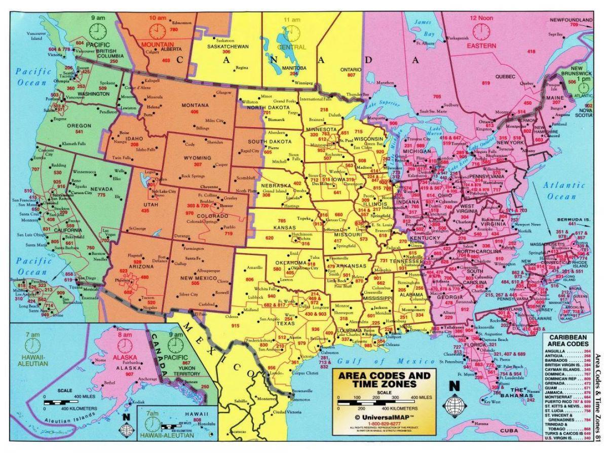 Strefa Czasowa Stany Zjednoczone Usa Mapa Mapa Ze Strefami Czasowymi Ameryka Północna Ameryka Południowa